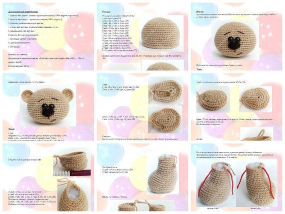 Amigurumi Bear pattern. Crochet pattern. Amigurumi animals pattern #crochetbearpatterns