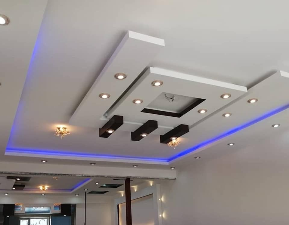 Pin By Em La Vrai Vie On Eclairage Plafond In 2020 Coffered Ceiling Design House Ceiling Design Bedroom False Ceiling Design