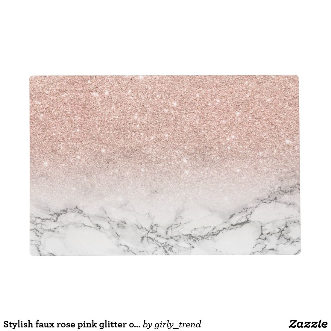 Stylish Faux Rose Pink Glitter Ombre White Marble Placemat Zazzle Com Rose Gold Wallpaper Gold Wallpaper Pink Glitter Wallpaper