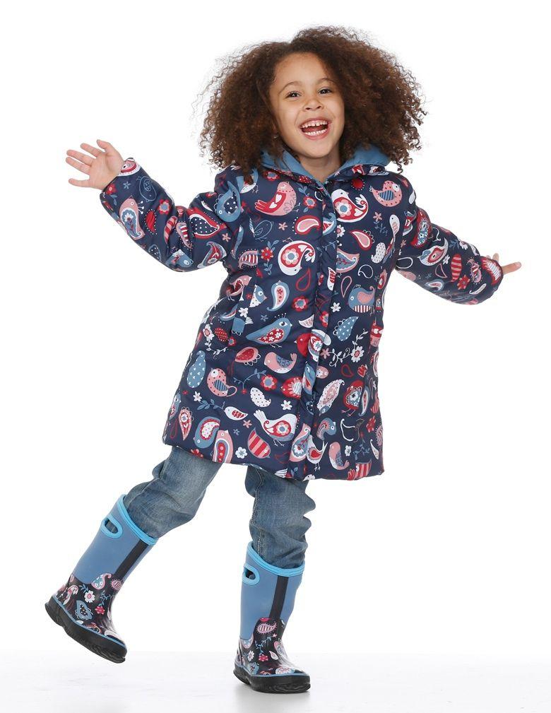 Hatley Paisley Birds Waterproof Winter Puffer Reversible Coat 2 Coats In 1 And Machine Washable Reversible Coat Hatley Hatley Raincoat