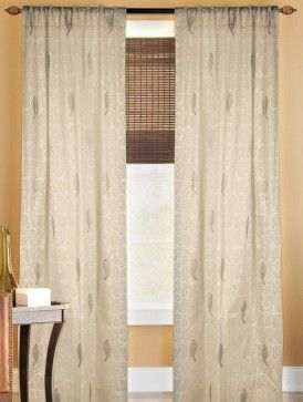 Ivory Kota Doria Cotton Paisley Printed Curtain 106in x 44in