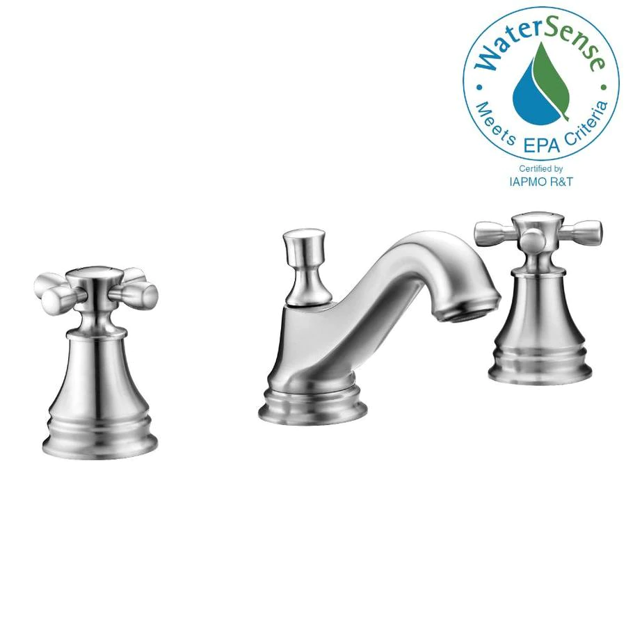 Photo of ANZZI Melody Brushed Nickel 2-handle Widespread WaterSense Bathroom Sink Faucet at Lowes.com