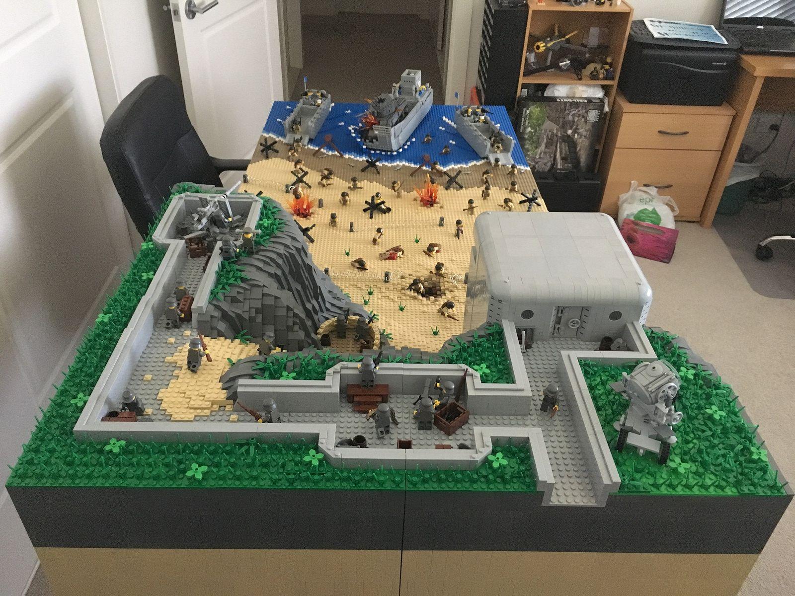 D-Day Omaha Beach, Normandy | Lego creations | Pinterest ...