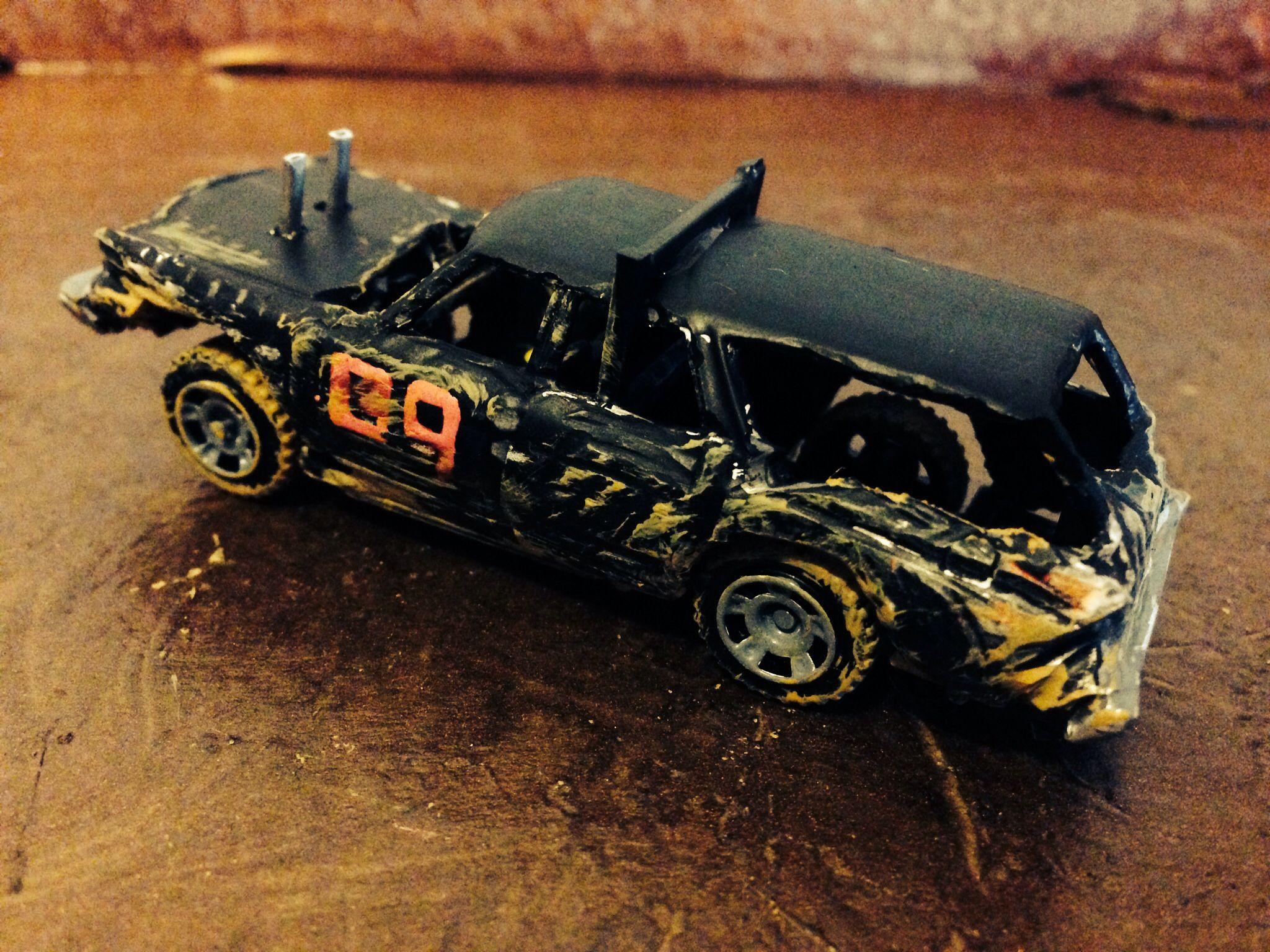 1:64 scale die-cast replica derby wagon built by Sticks Custom ...
