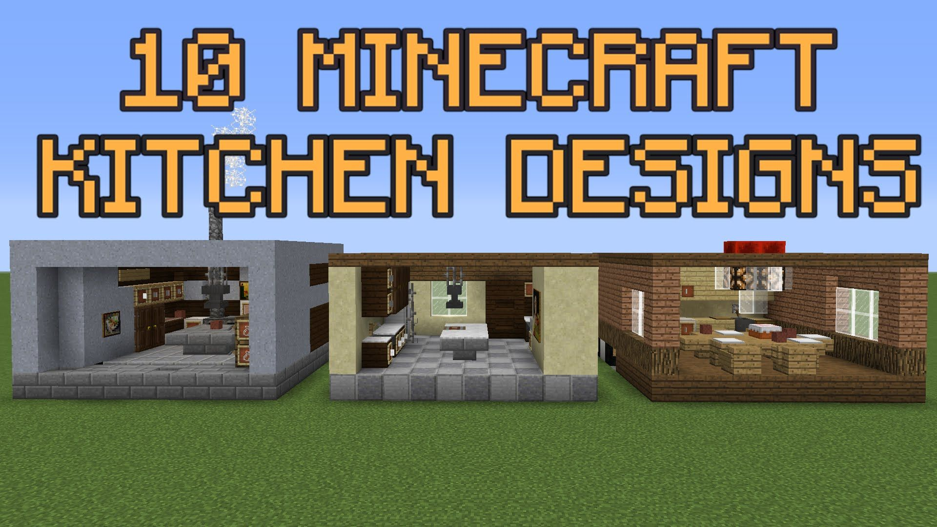 minecraft kitchen designs youtube interior design | Home Design Idea ...