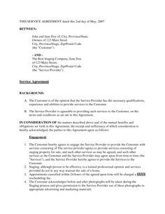 Home Staging Contract Template  Bing Images  Staging