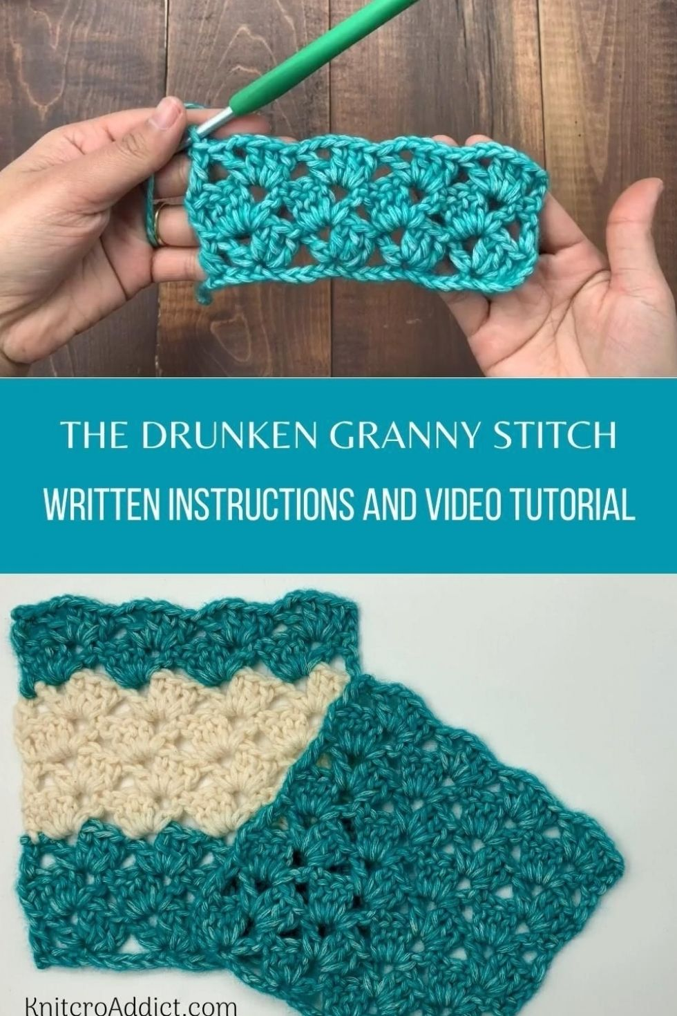 Drunken Granny Stitch : Step by Step Video Tutoria