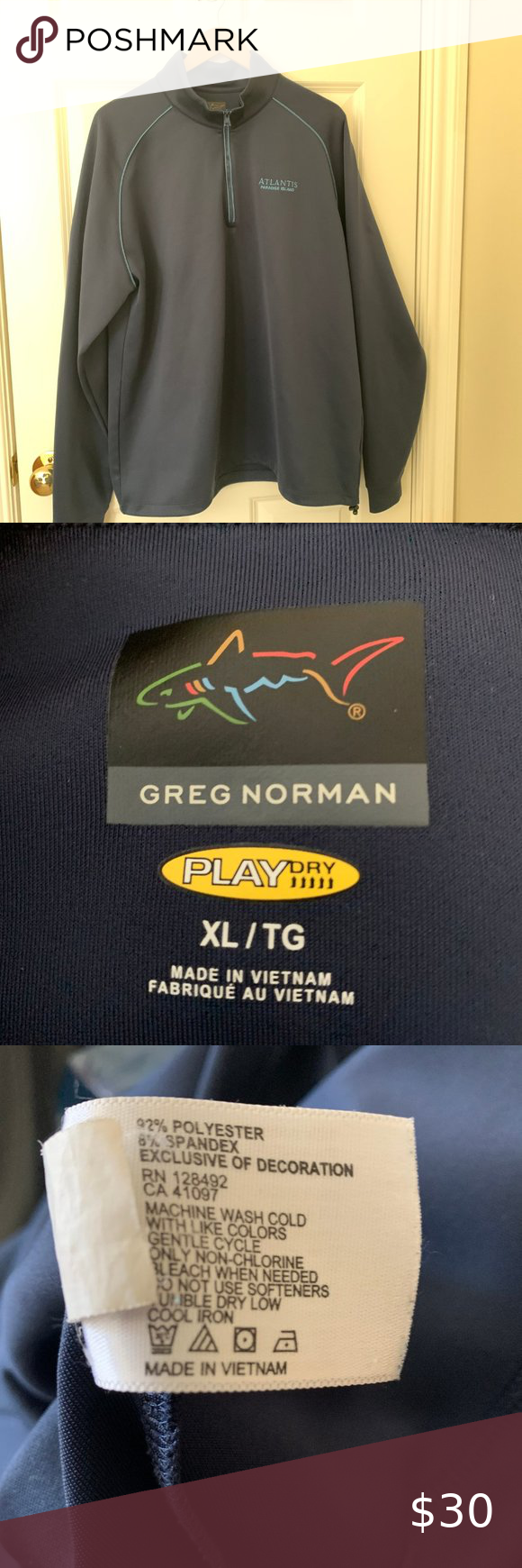 Greg Norman Playdry 1 4 Zip Pullover Xl In 2020 Clothes Design Lightweight Shirts Pullover