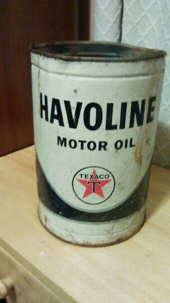 Vintage Havoline Motor Oil can/Old Oil Can/Metal Oil Can
