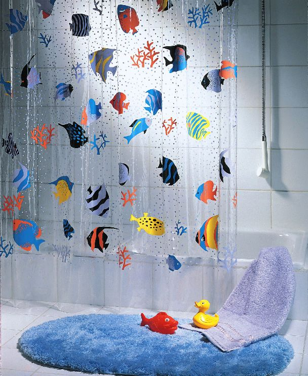 Spirella Fish shower curtain. Like taking a shower in an exotic ...