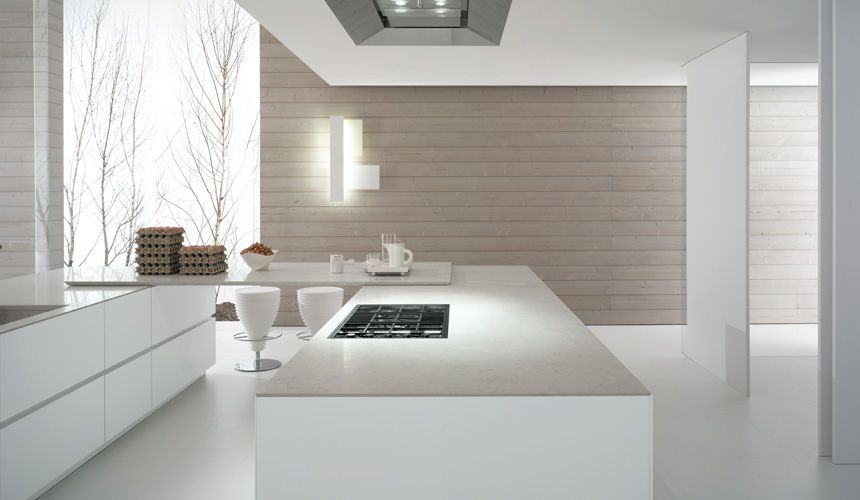Nice Pinned Image Italian Kitchen Bravo Cube 45° Lacquer White Matt With  Handle Less Opening Nice Design
