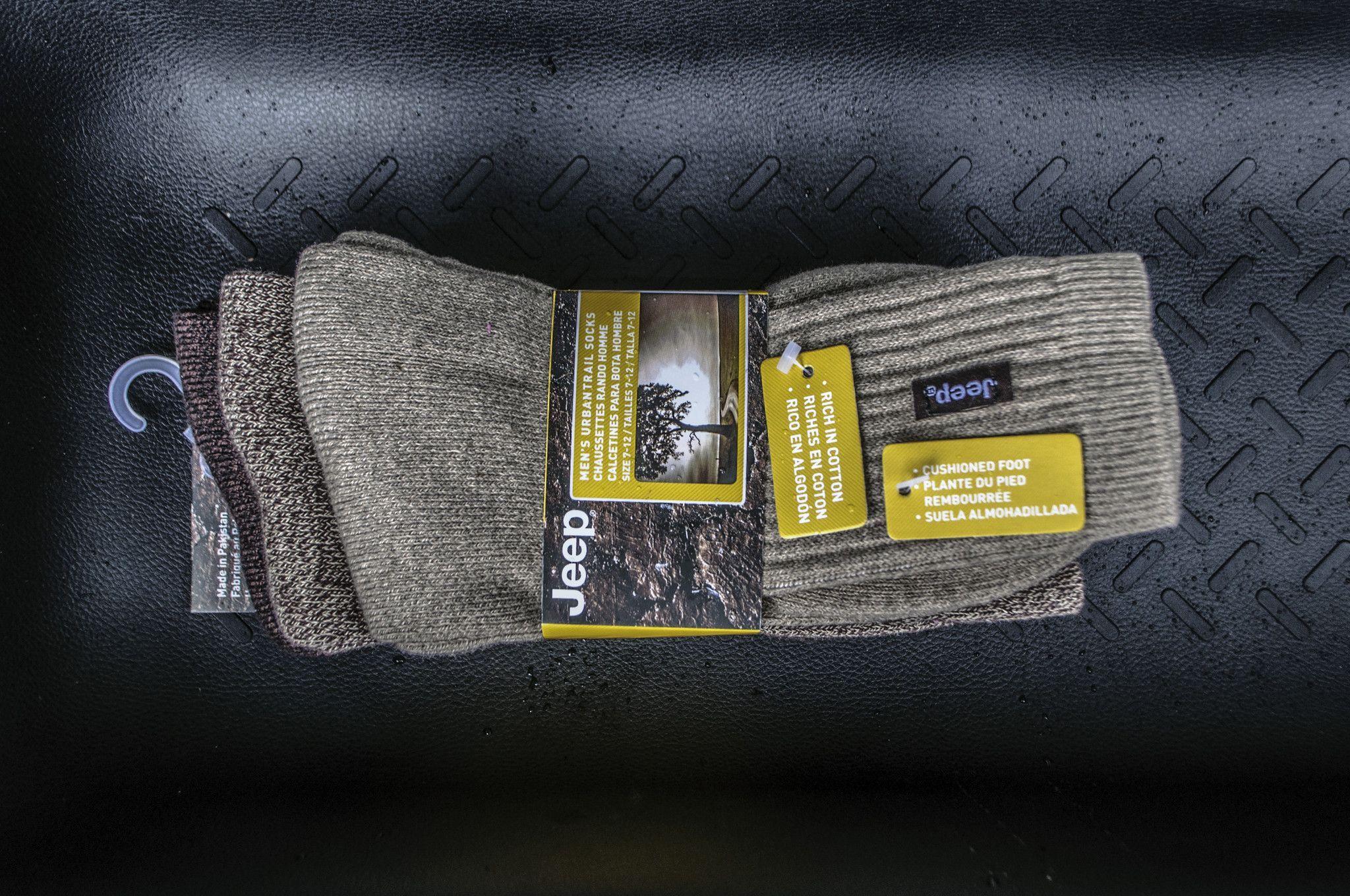 Jeep Men's Cotton / Poly Urban Trail Socks (3-Pair)