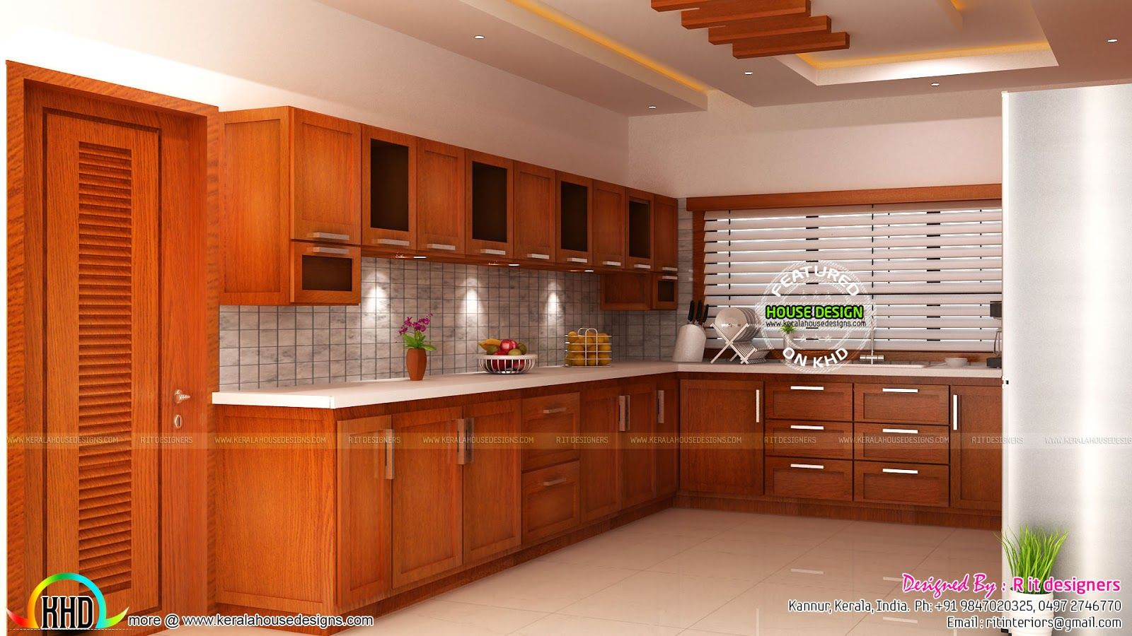 Modular Kitchen Living And Bedroom Interior Kerala Home Design Pos