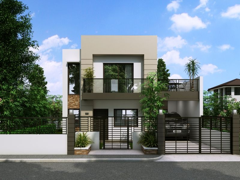 Modern House Design Series: MHD-2014014 | Two story house ... on small contemporary house design, simple contemporary house design, narrow house interior design, narrow house plan, modern contemporary house design, narrow cottage house design, narrow concrete house design, mountain contemporary house design,