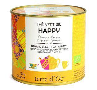 Terre d'Oc Organic HAPPY green tea 100g