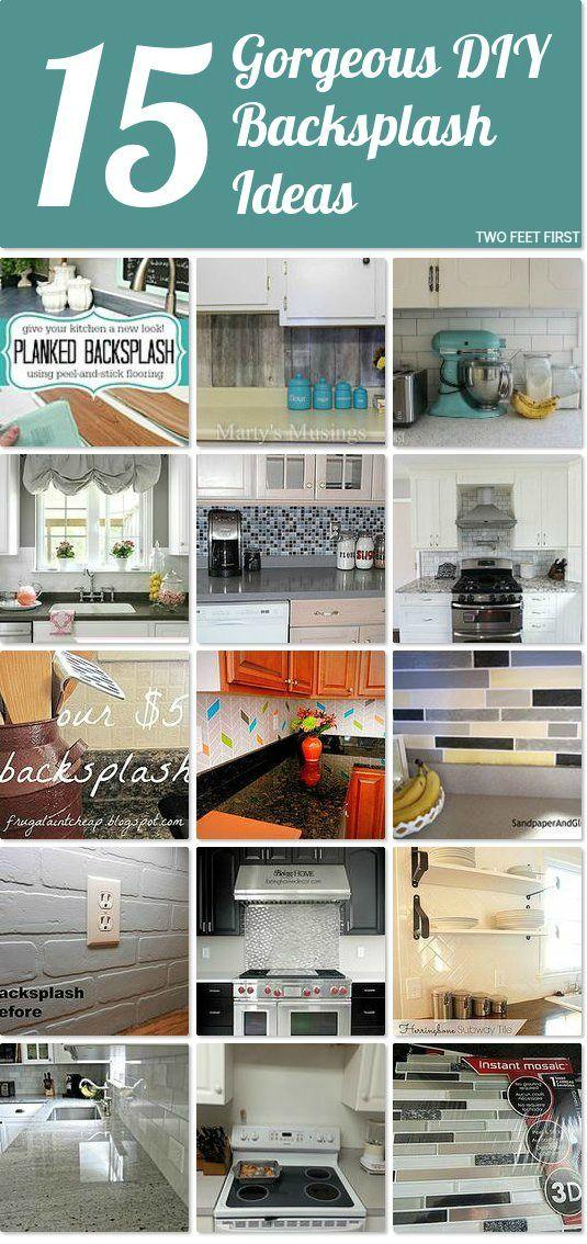 15 DIY Backsplash Ideas DIY Community Board Kitchen backsplash