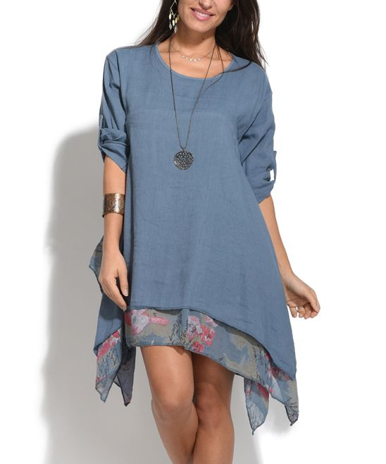 Couleur Lin Faded Blue Mary Linen Dress | Linens, Dresses and Blue