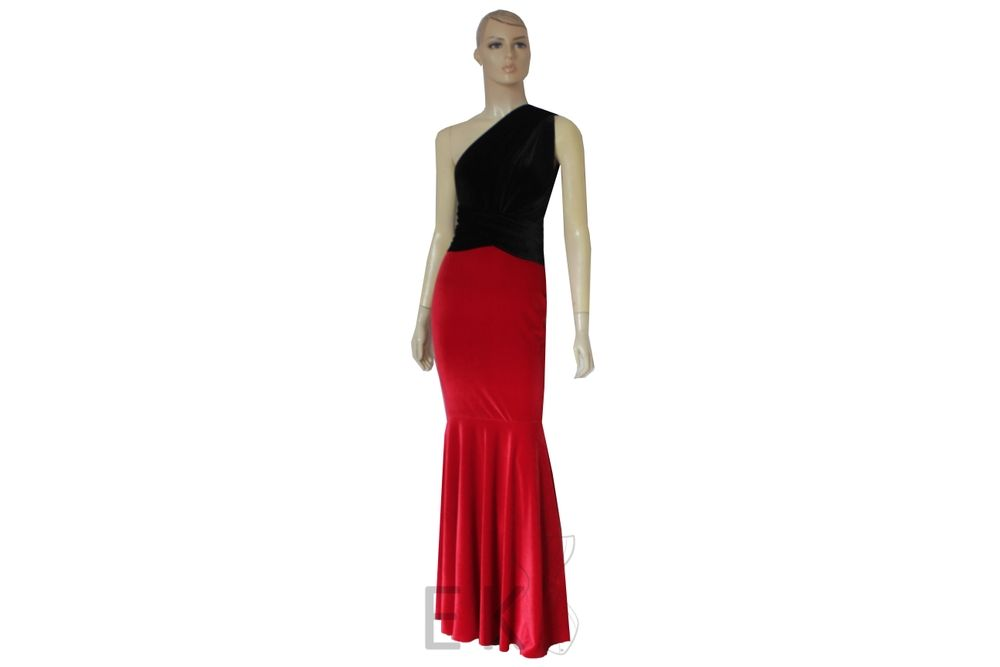 Mermaid formal dress. Floor length evening gown. Red black velvet infinity  dress. Fish tail ball gown. Multi way maid of honor outfit. 91cb42fb5