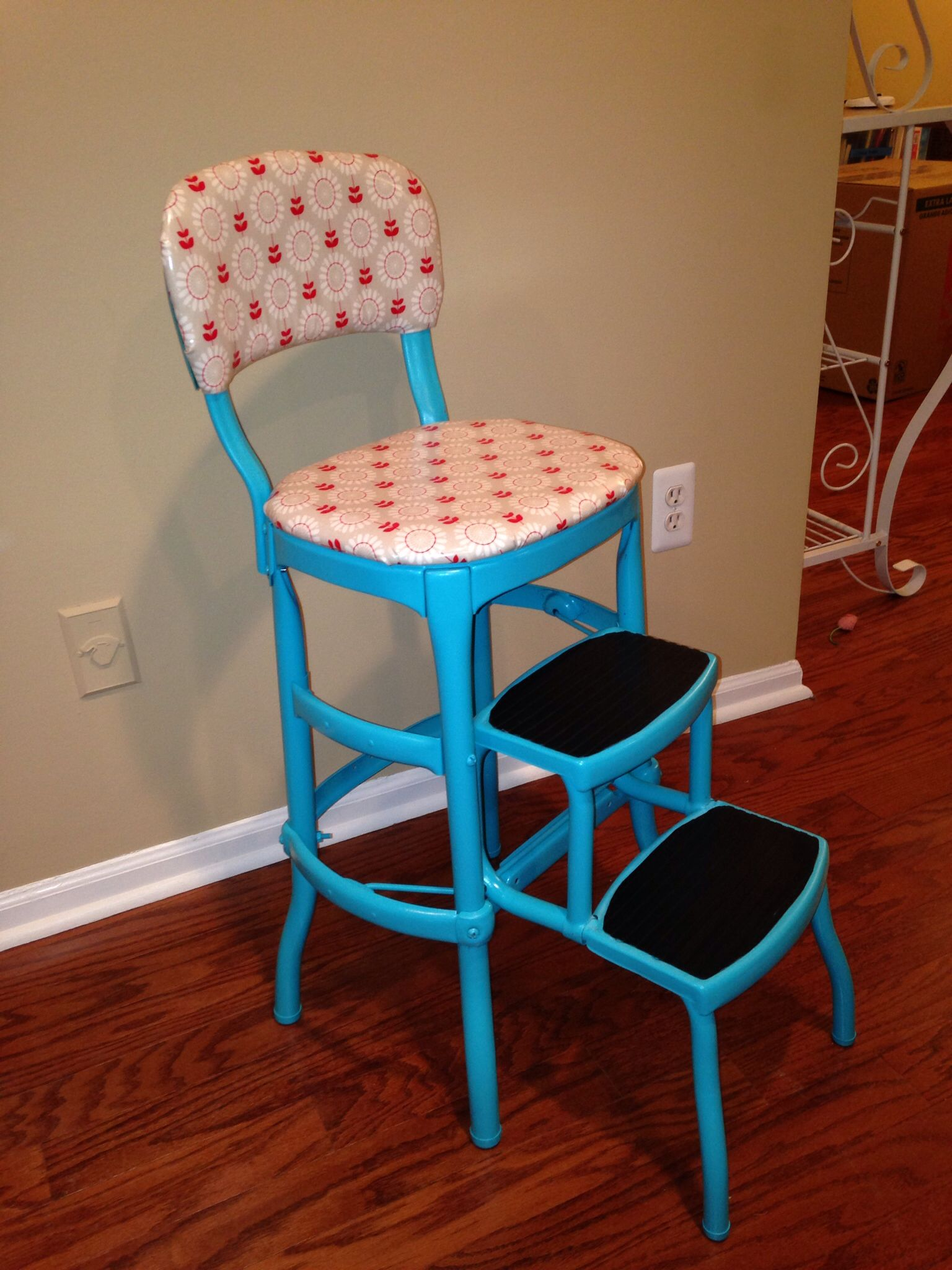 Cosco step stool chair redo My Projects Pinterest