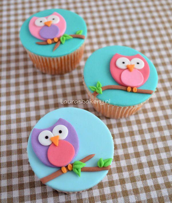 how to owl cupcakes Kleine hapjesvoorgerechten Pinterest Owl