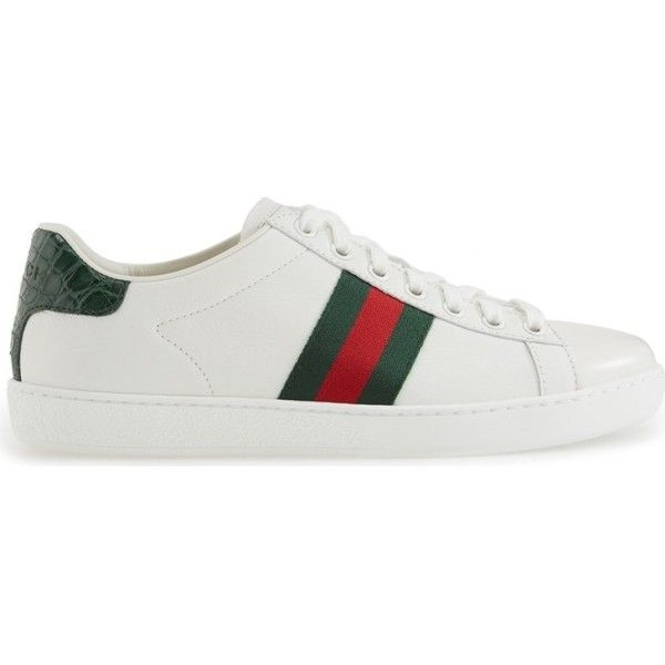 GUCCI \u0027New Ace\u0027 Sneaker ($900) ❤ liked on Polyvore