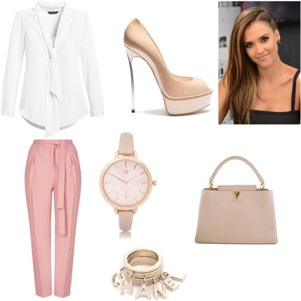 Untitled #116 by genesis-frias on Polyvore featuring polyvore, fashion, style, White House Black Market, Topshop, Casadei, Louis Vuitton and River Island