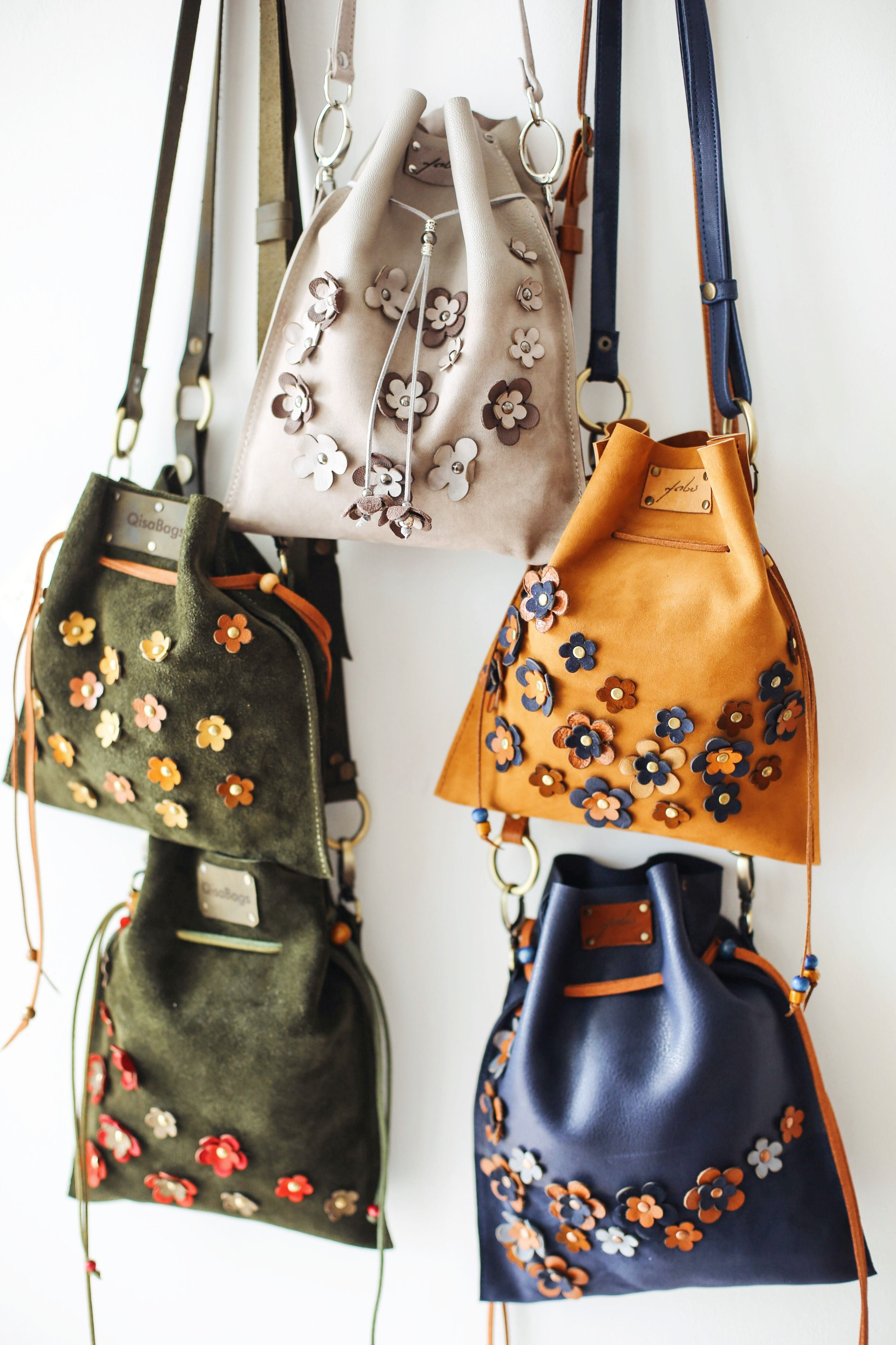 Crossbody Leather Bag Bucket Bag Small Leather Purse Etsy In 2020 Small Leather Purse Bucket Bag Floral Bags