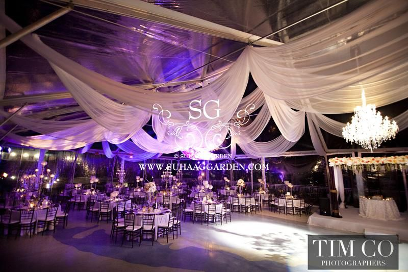 Suhaag Garden Indian Wedding Decorator Florida Lighting Design Ceiling Treatment