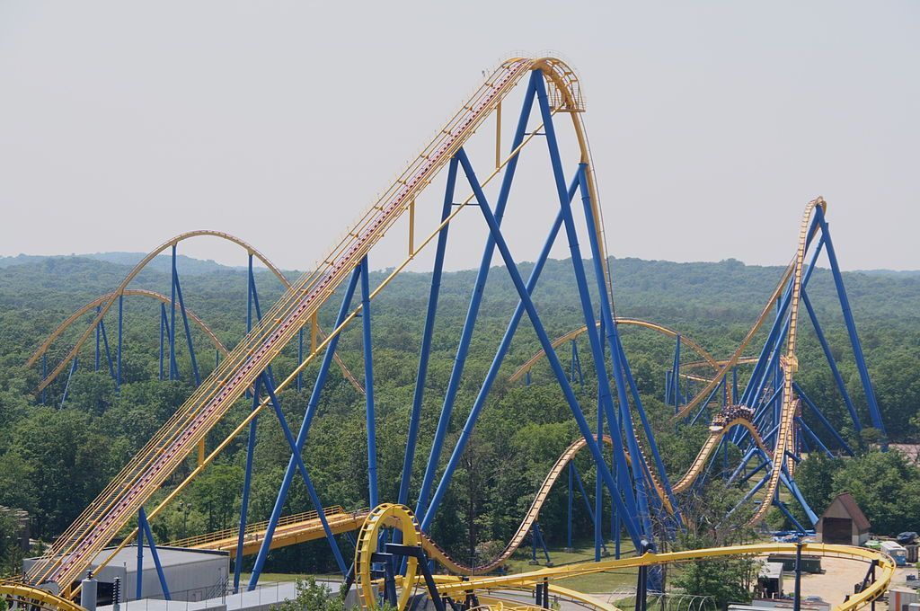 Goliath At Six Flags Over Georgia Vs Nitro At Six Flags Great Six Flags Great Adventure Scary Roller Coasters Amusement Park Rides