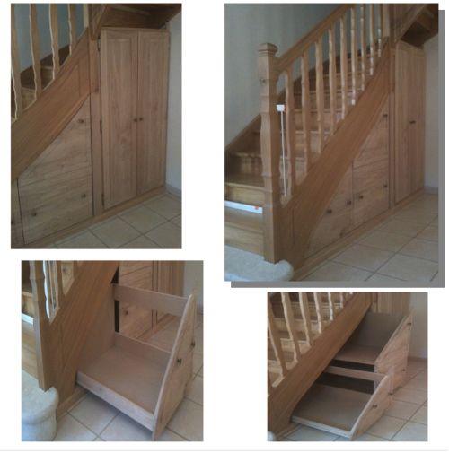 modele meuble chaussures sous escalier