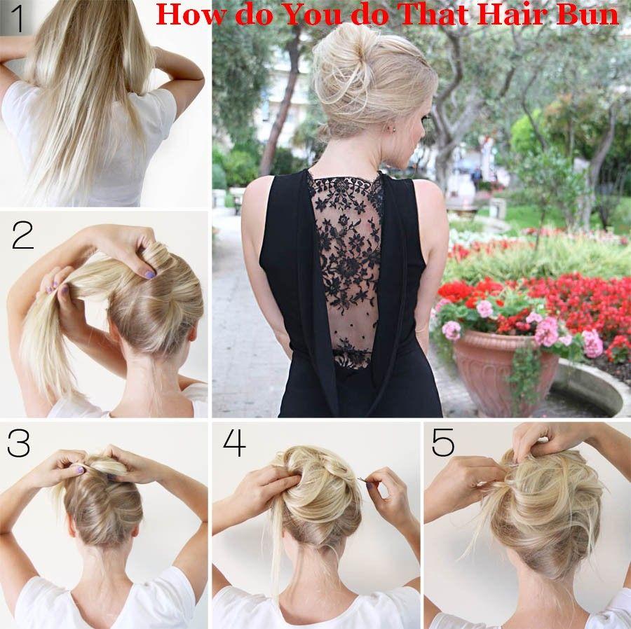 How do you do that hair bun hair care tips pinterest hair buns