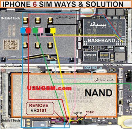 iPhone 6 Insert Sim IC Solution Jumper Problem Ways | Tom