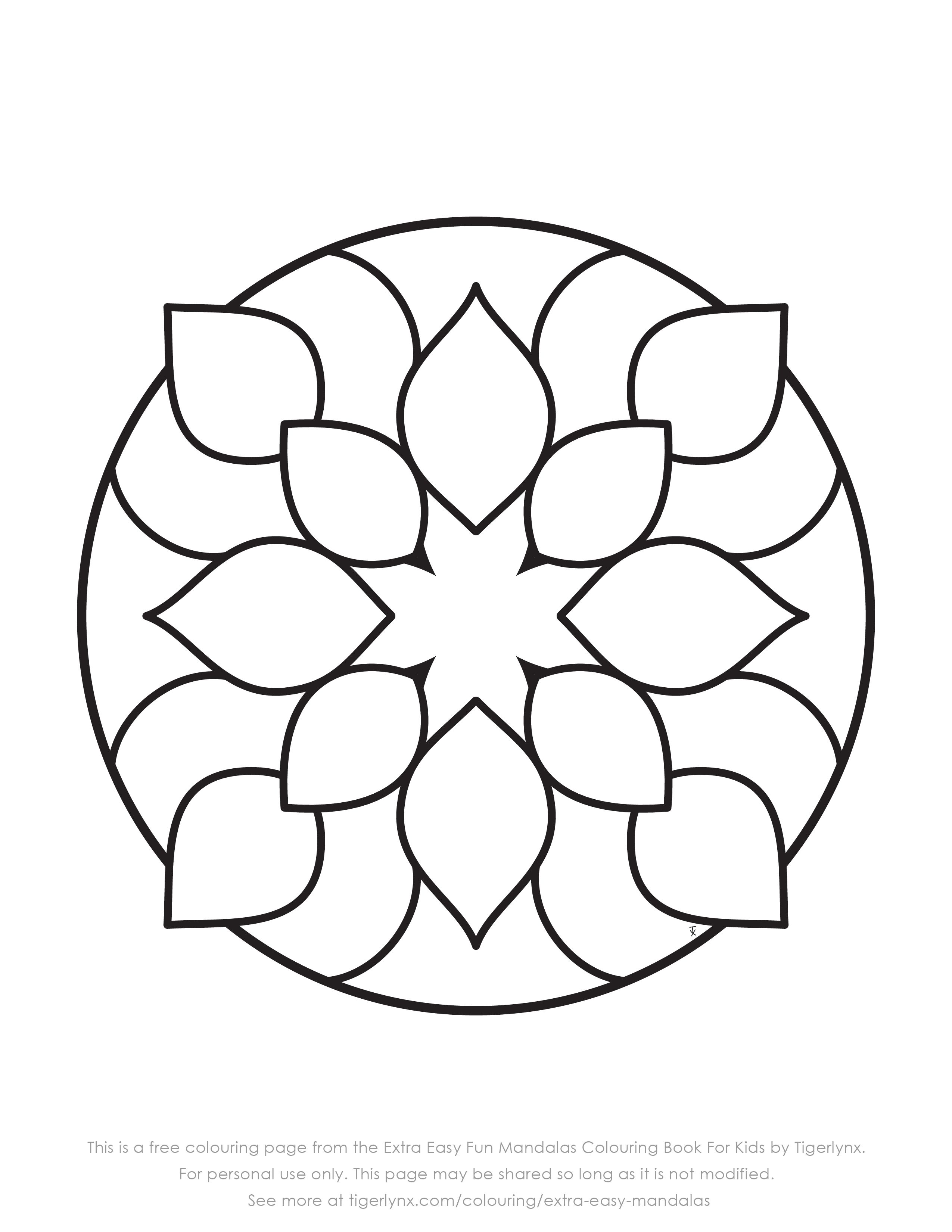 Pin By R Prajna On Chibi Easy Coloring Pages Easy Mandala Drawing