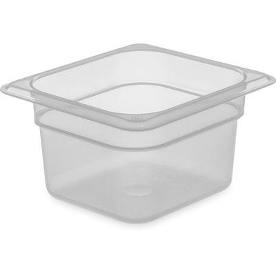 "Carlisle Sanitary Maintenance Products StorPlus Food Pan (Set of 6) Size: 4"" H x 6.93"" W x 6.38"" D"