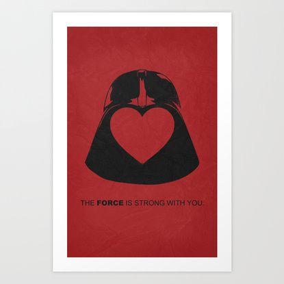 Star Wars - Valentine Poster Art Print by Misery | Society6
