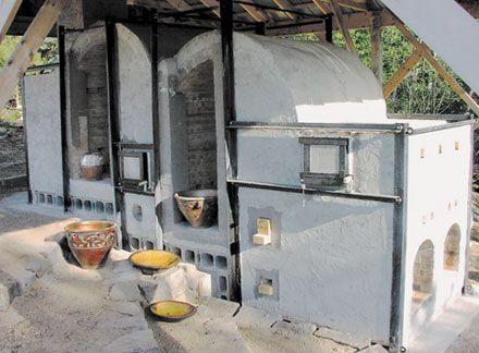 wood fired pottery kiln. hogbay pottery, franklin, maine wood fired pottery kiln
