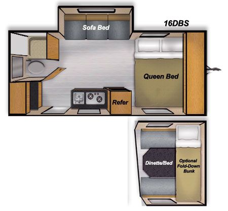 Camplite 16dbs Floorplan With Images Lightweight Travel