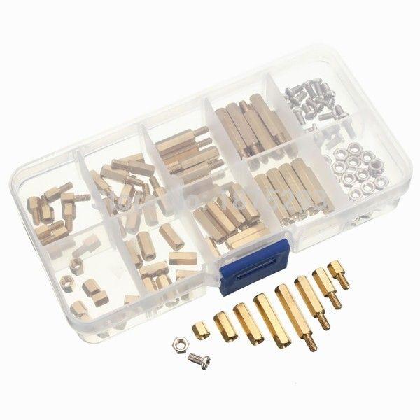 120pcs Pcb M3 Hex Male Female Threaded Brass Spacer Standoffs Screw Nut Assortment Set Hardware Standoff Pc Repair Tool