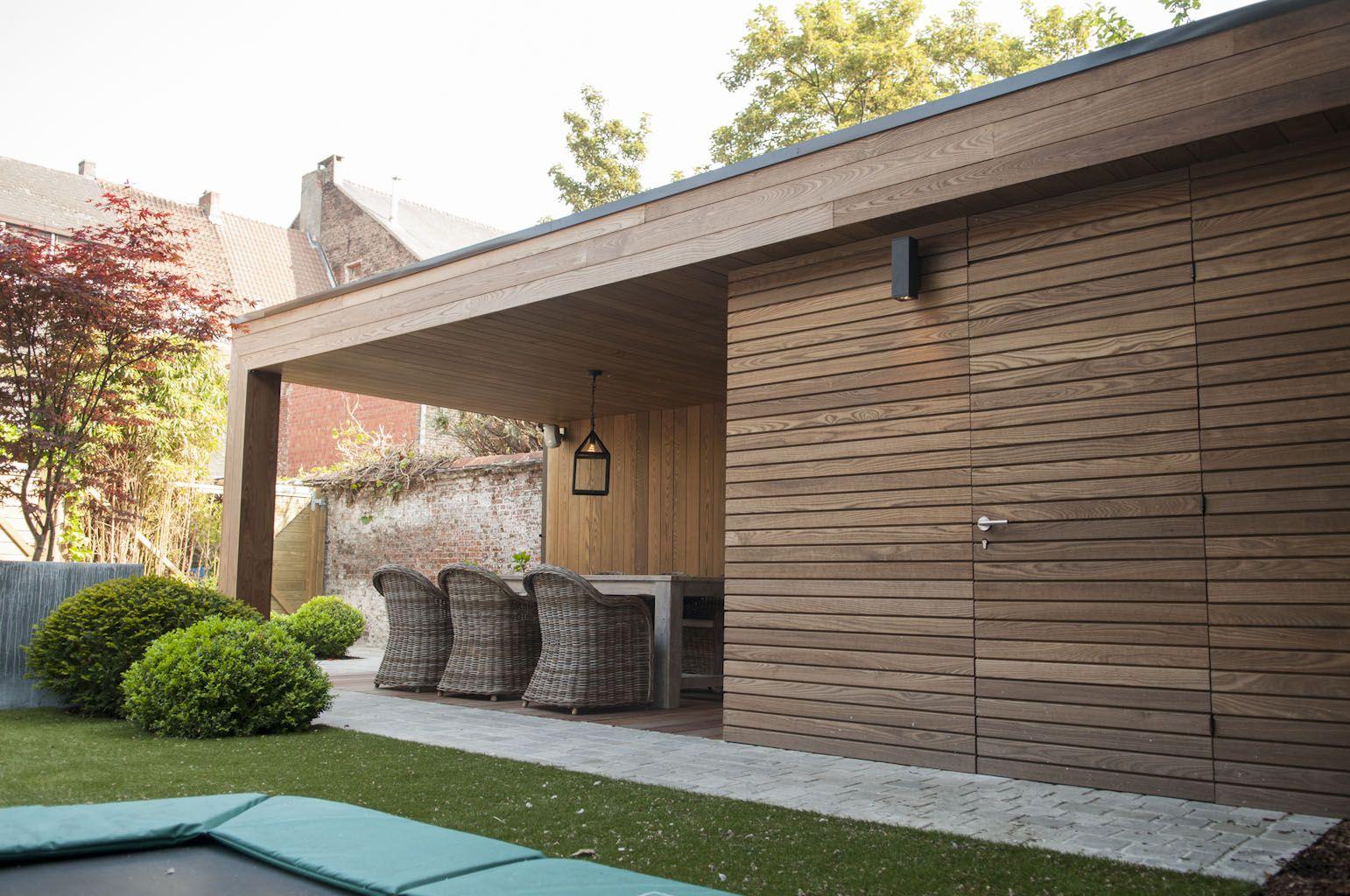 Thermowood hout google zoeken bijgebouw pinterest tuinhuis terras en google - Moderne lounge stijl ...