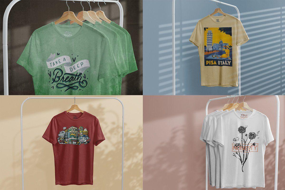 Download T Shirt Mock Up On Hanger Shirt Shop Tshirt Mockup Shirts