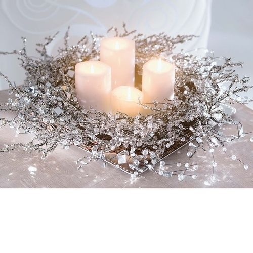 Silver decorations home decor candles design holidays interior