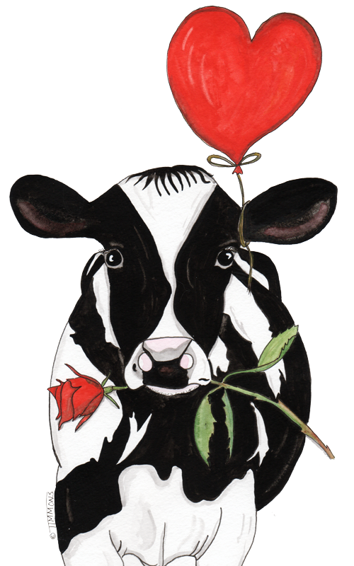 If I had hands to hold you | Animals, Cute cows, Animals ... |Cute Animated Cows In Love