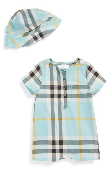 ffb388932c00 Burberry  Rocco  Romper   Bucket Hat (Baby Boys) available at  Nordstrom