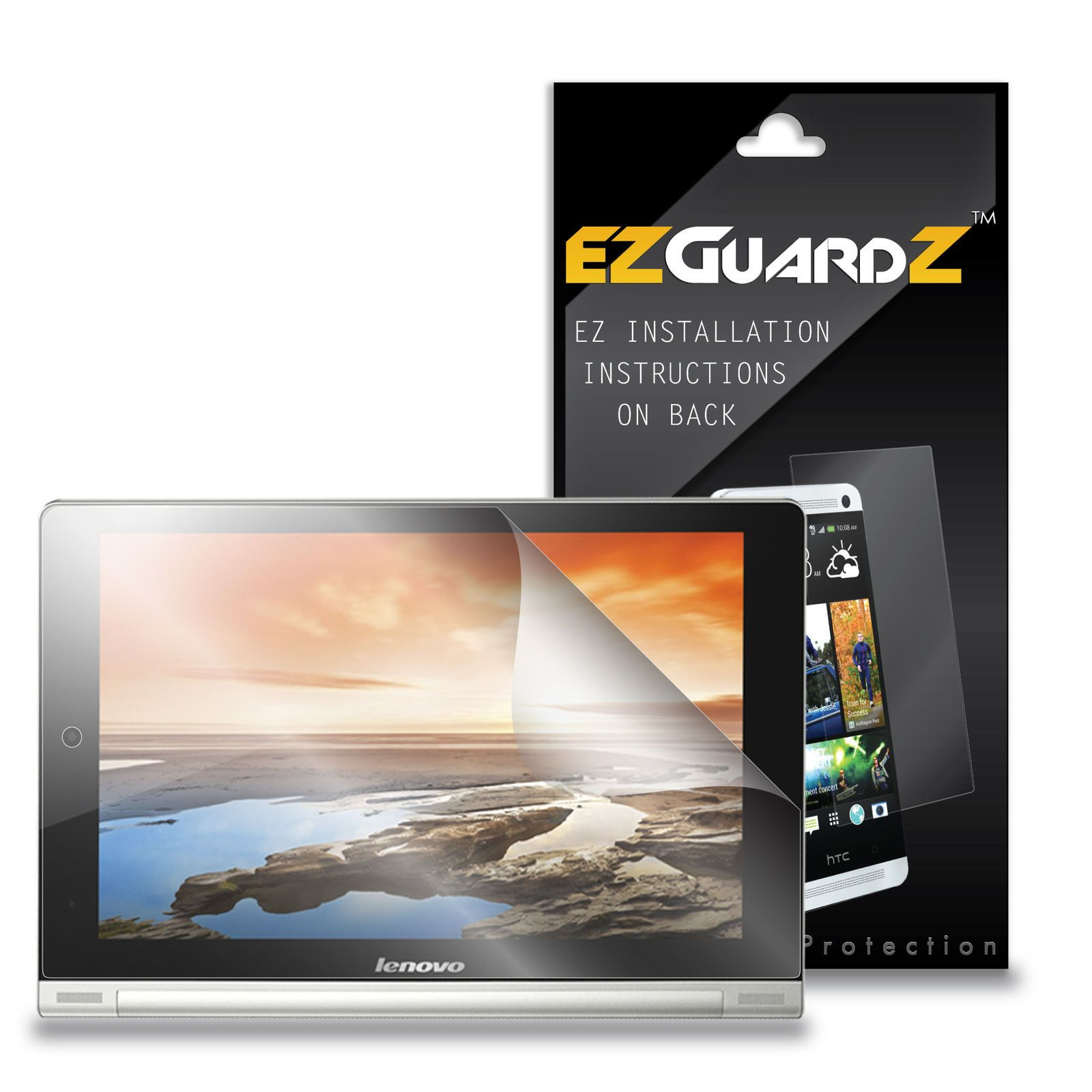 2X EZguardz Ultra Clear Screen Protector Skin 2X For Lenovo Yoga Tablet 8