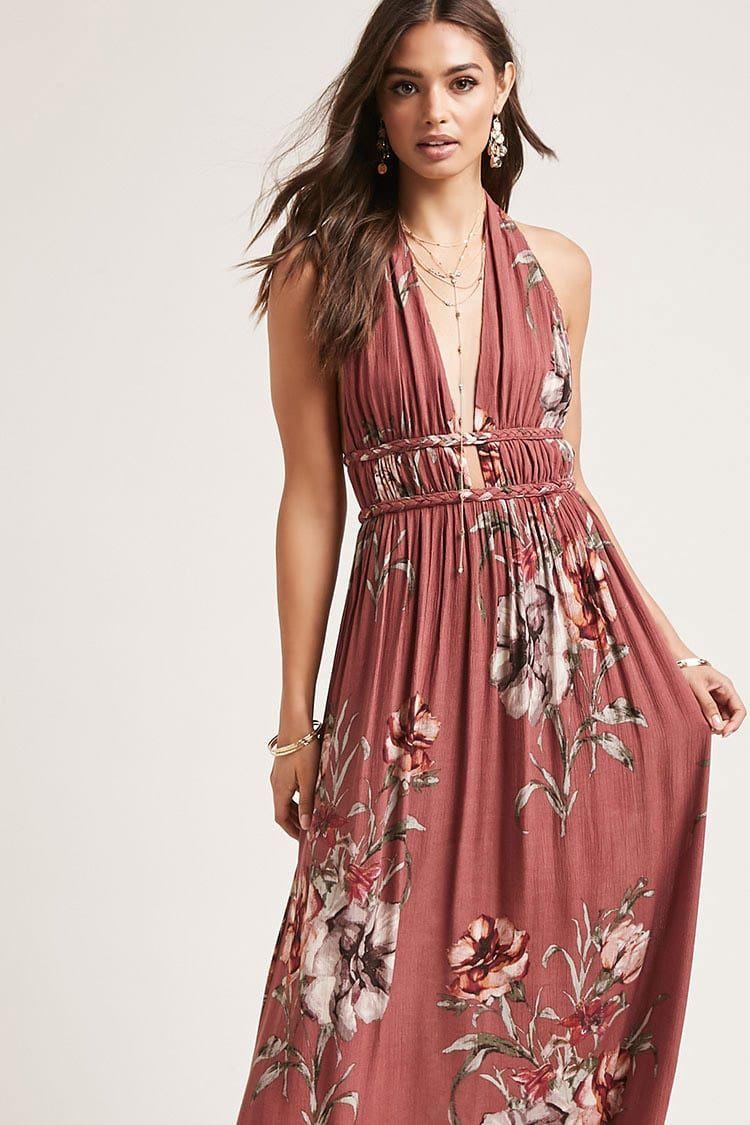 4d9bf13073 Floral Halter Dress