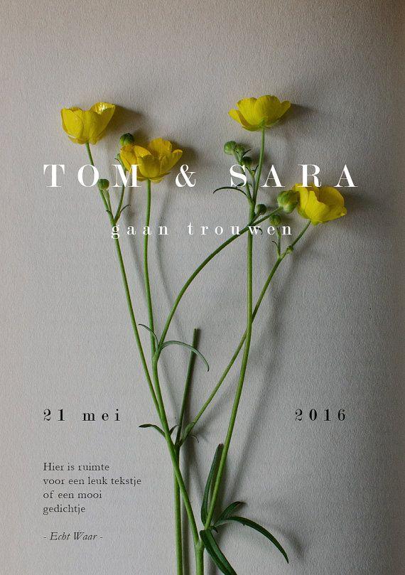 Wedding Invitation Wild Flowers //