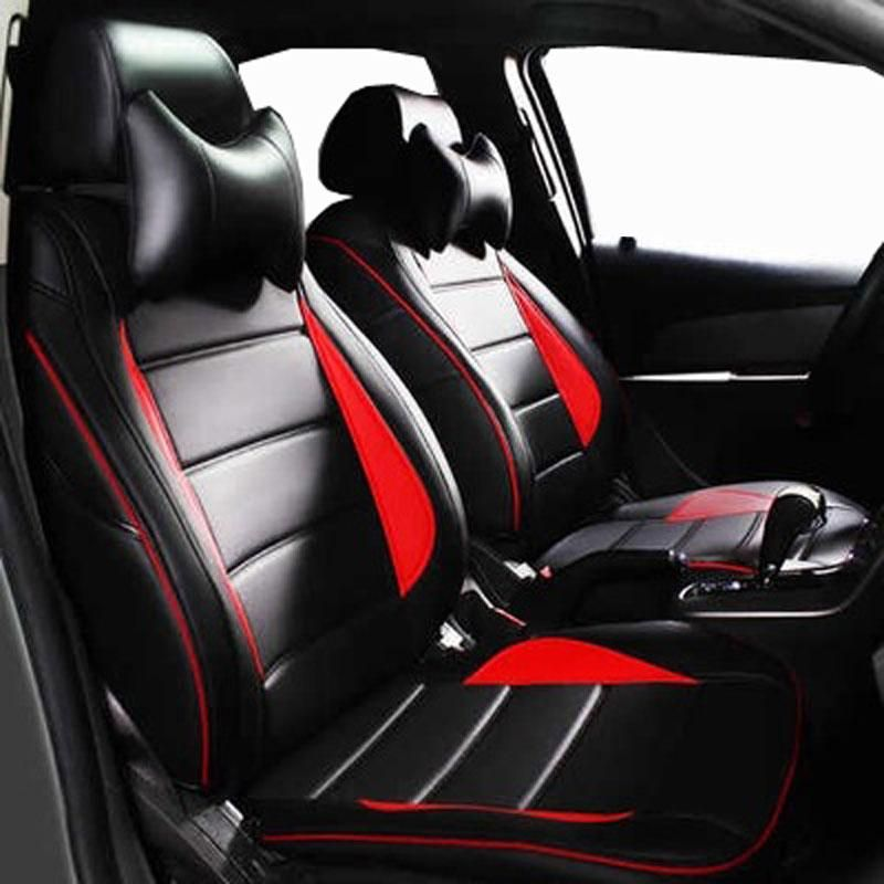Carnong Car Seat Cover Leather For Ford Fiesta Focus Fox Mondeo Maverick S Max Ecosport Escape Edge Proper Fit Car Seats Leather Car Seat Covers Carseat Cover