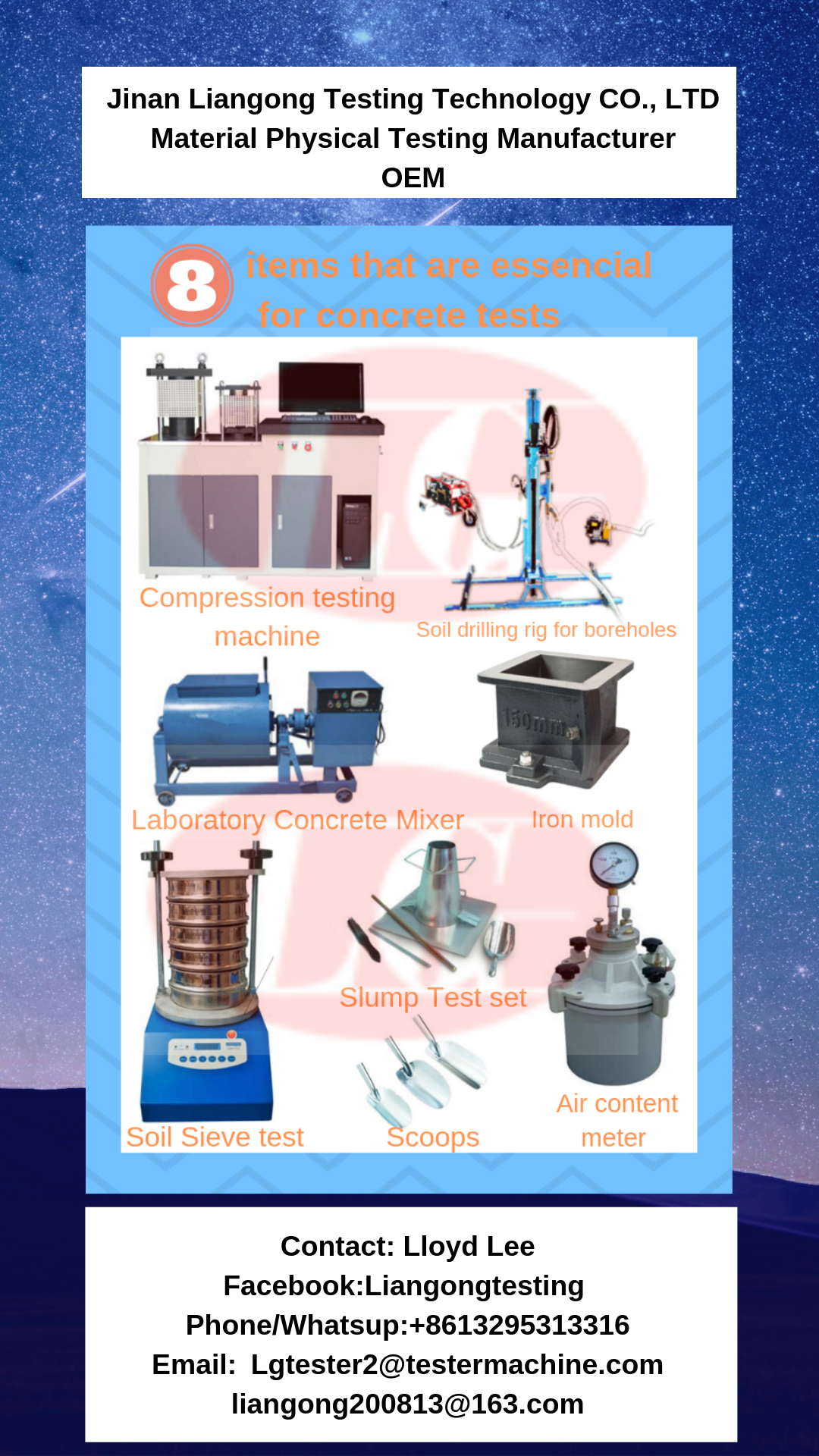 8 Testing Machines That Are Essential For Concrete Test Concrete Mixers Drilling Rig Jinan