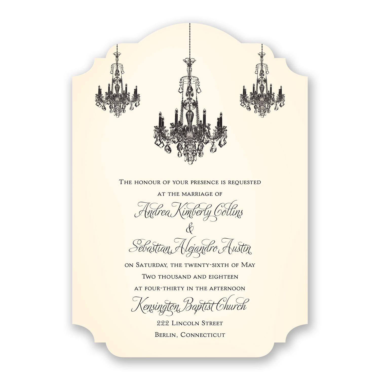 Ballroom Beauty Wedding Invitation | David Tutera at Invitations By ...