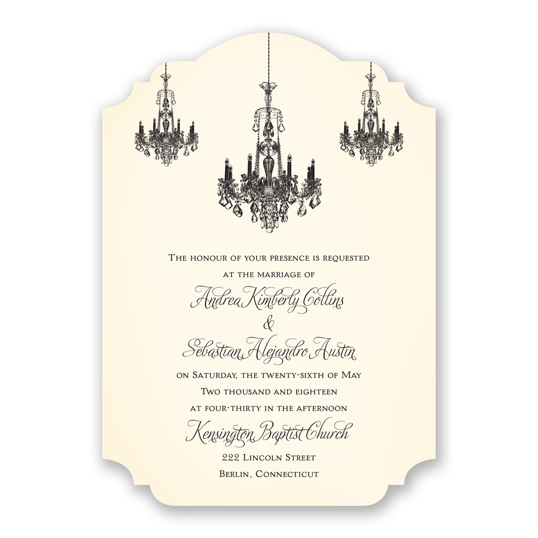 Ballroom Beauty Wedding Invitation